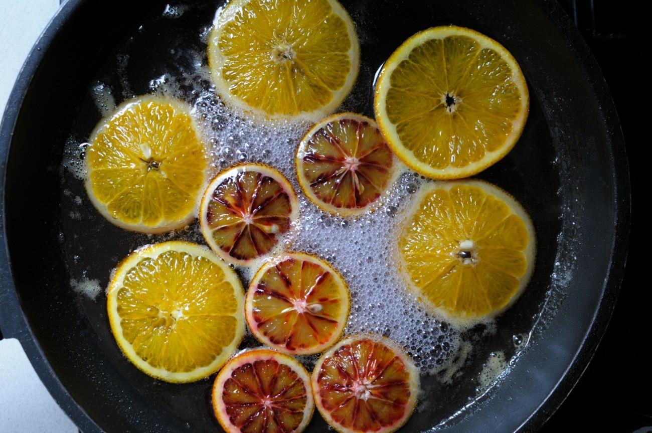 En casa. Tarta naranja