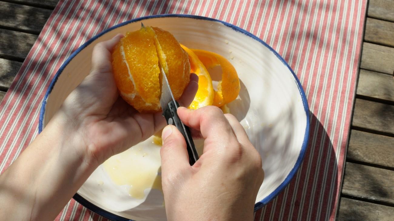 En casa. Ensalada de citricos