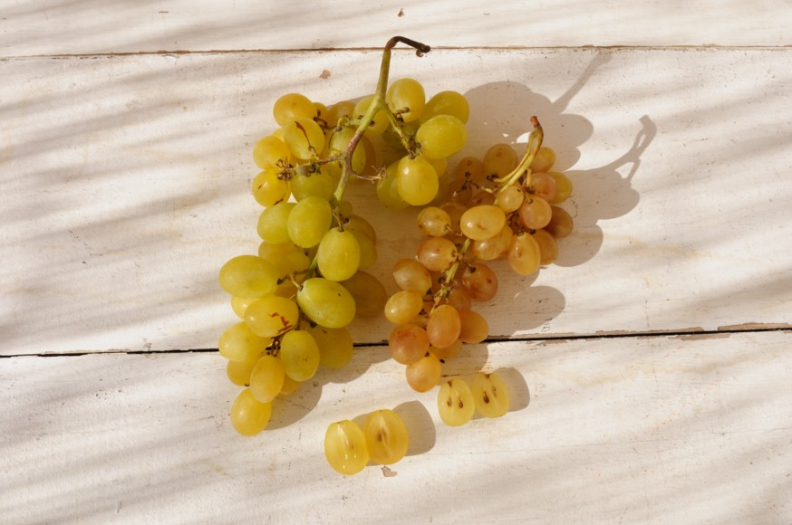 En casa. Pechuga con uvas