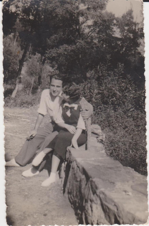 Alfonso y Marita en el desierto de Las Palmas