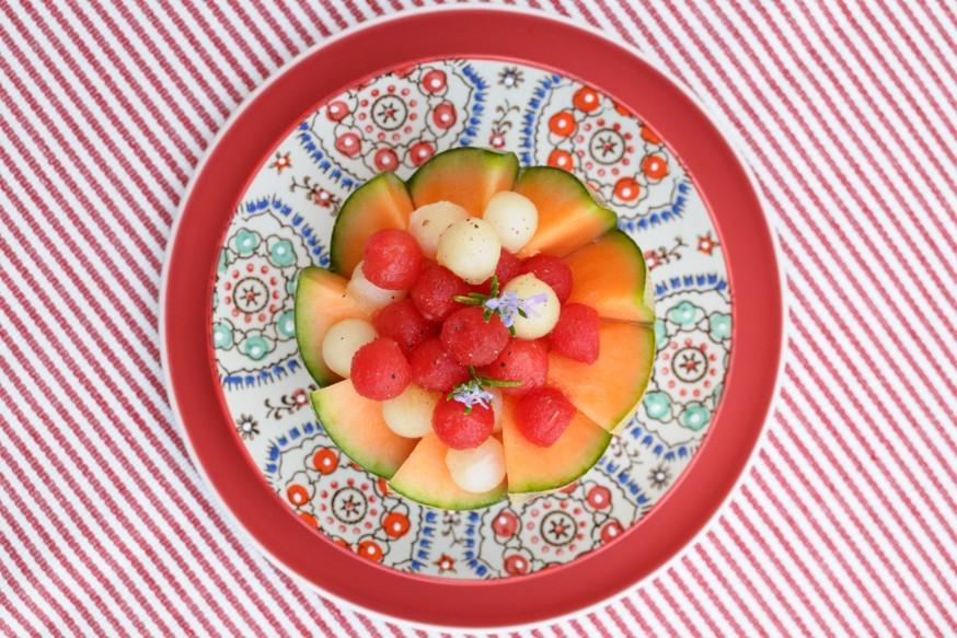 En casa. Postre de melon