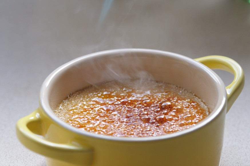 En casa. Crème brûlée.