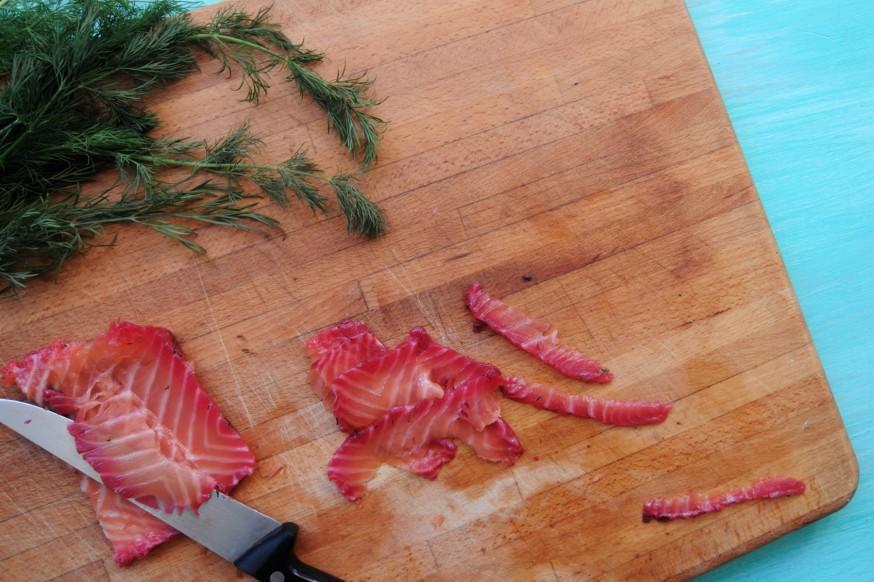 En casa. Salmon