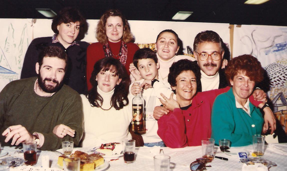 Inmaculada con compañeros del Orfeón Universitario, 1984.