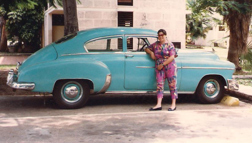 Inmaculada en Cuba, 1987.