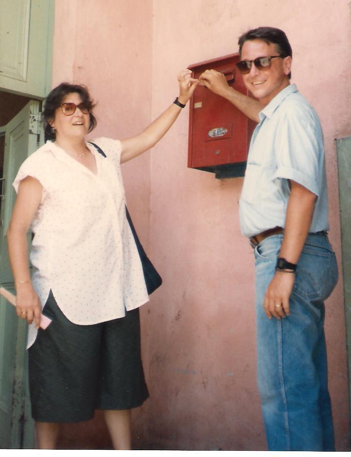 Inmaculada en Cuba con Carlos Peñafort, 1987.
