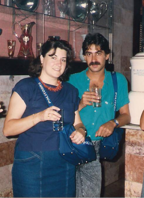 Inmaculada en Cuba con su amigo Pere, 1987.