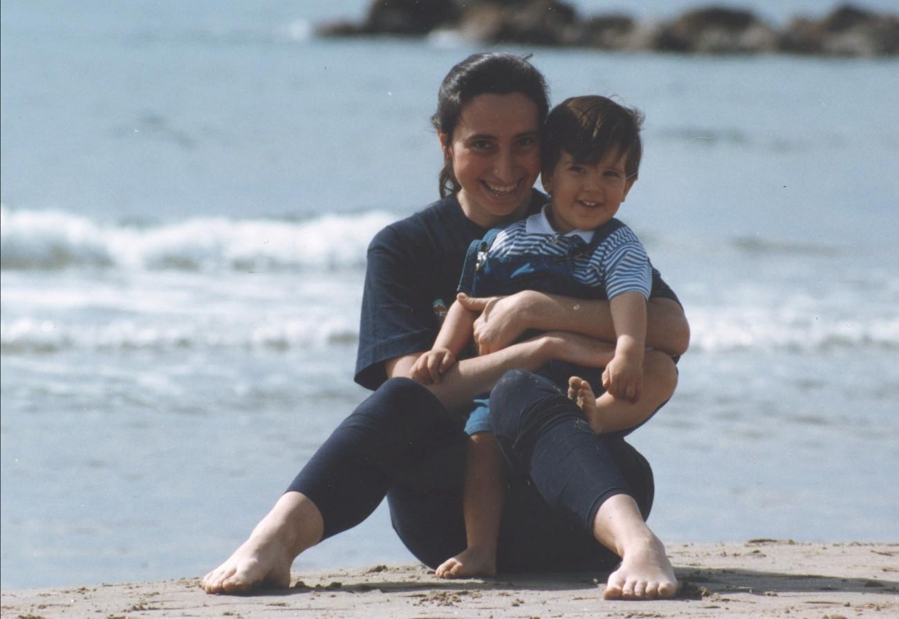 Jaime en la playa de Benicasim, 1992