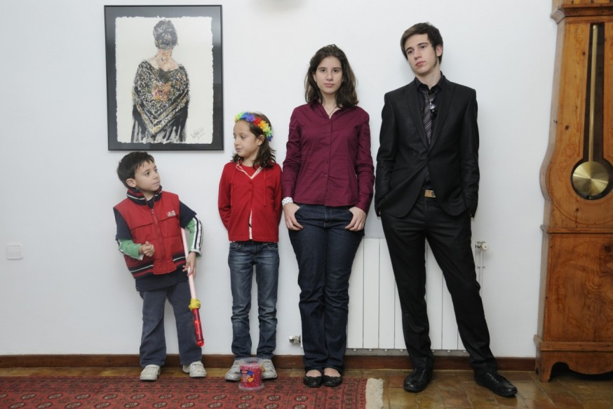 Victor, María, Noël y Jaime en el último capítulo de Star Wars