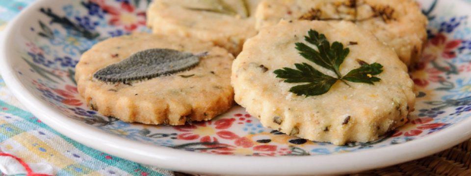 galletas de queso y hierbas